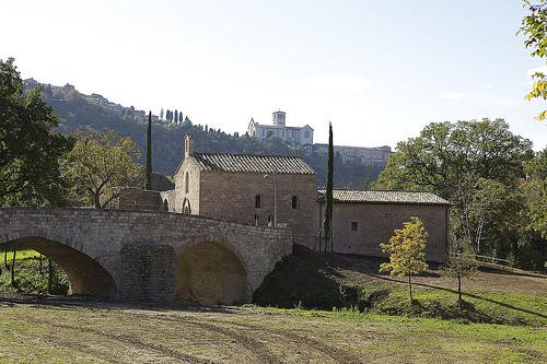 Der Wald vom Heiligen Franziskus in Assisi