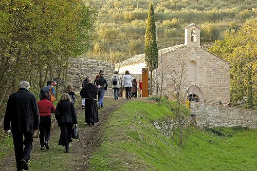 Wandern im Wald des Heiligen Franziskus