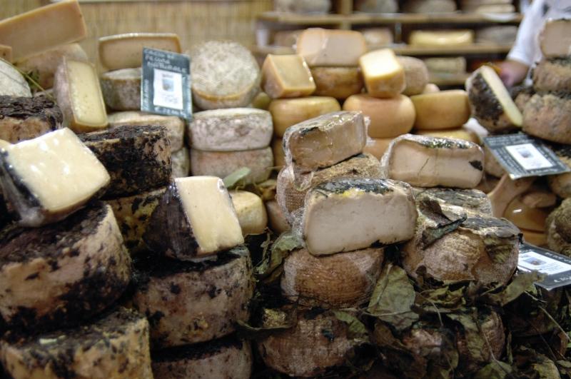 Ein Berg von Käse