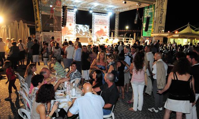 Der Abend auf dem Brodetto Fest in Fano