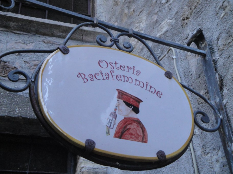 Das Restaurant Baciafemmine in Scheggino
