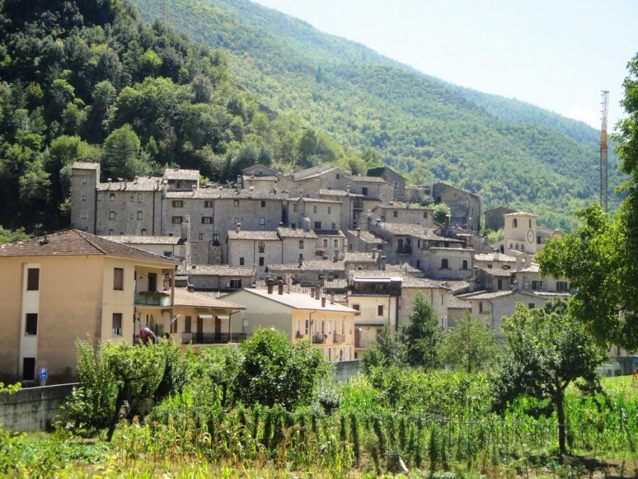Das malerische Dorf Scheggino