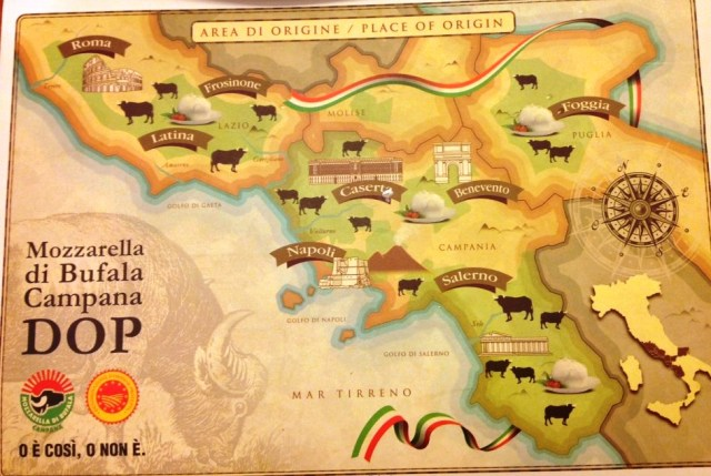 Herkunftsgebiet der Büffelmozzarella