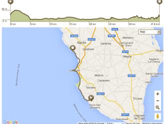 Apulien Fahrradtour Route 5. Tag