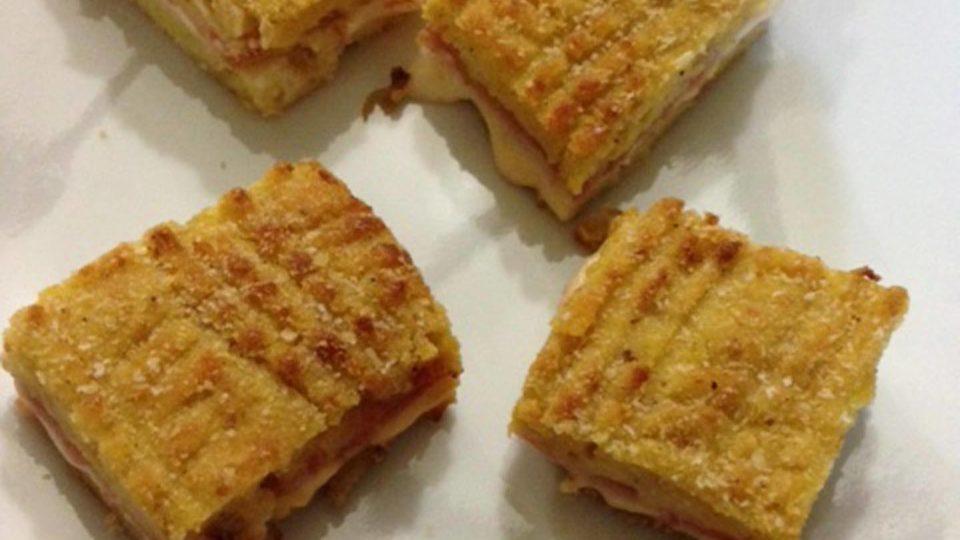 Gateau aus Kartoffeln, Käse und Schinken