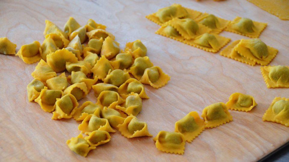 """Die """"plin"""", eine Spezialität aus dem Piemont"""