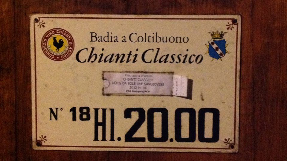Chianti Classico historischer Keller in Badia a Coltibuono