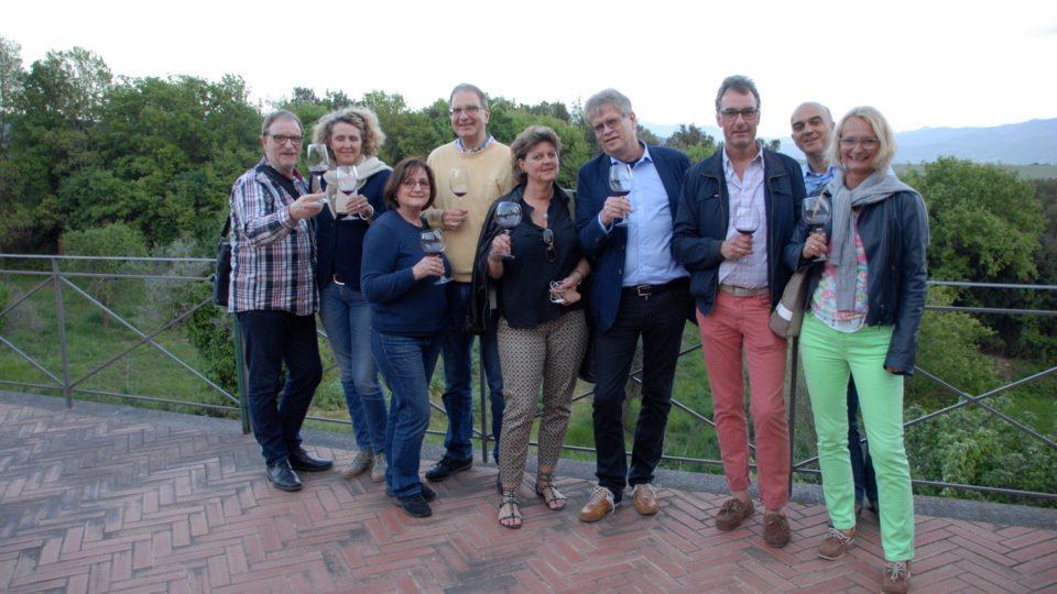 Wein Degustation im Chiantigebiet