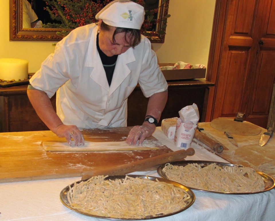 Handgemachte Pasta, eine starke Tradition in Umbrien!