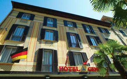 Das Hotel Genova - Fassade