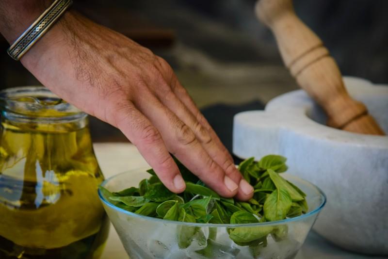 Pesto Zubereitung - Kurs