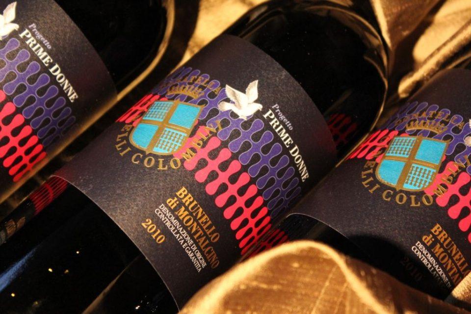 einige Flaschen des Brunello di Montalcino, ein prämierter Rotwein vom Projekt Prime Donne