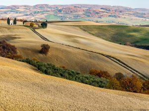 die südliche Toskana bei Pienza