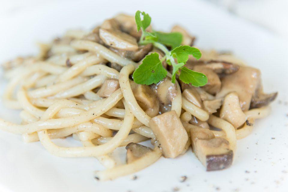 Pasta mit Pilzen