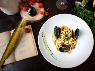 Gericht im Restaurant Bacco