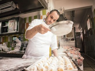 Hotel Bacco in Furore: in der Küche