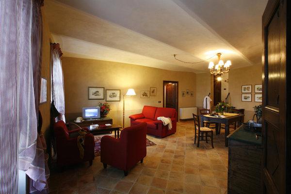 Wohnbereich in einer Suite