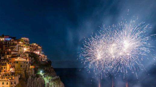 Feuerwerk Manarola
