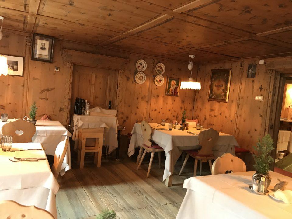 Restaurant Oberraindlhof, Schnalstal - Speisesaal