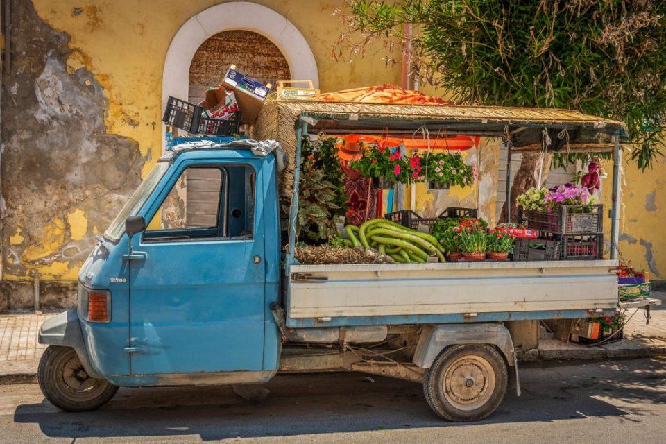 Gemüsehändler in Sizilien