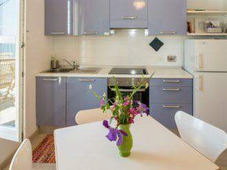 Die Küche der Ferienwohnung Casa Beccara in Manarola