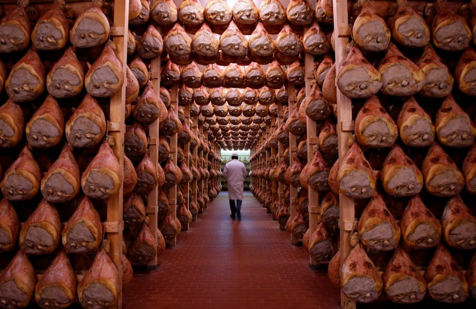 Parma Schinken Reifekeller